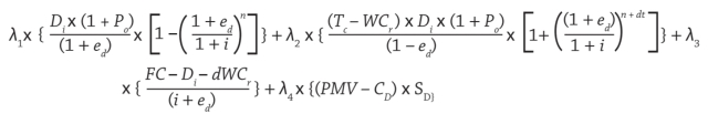 Yieldco maths, formula by David March, Entropy Investment Management LLC.